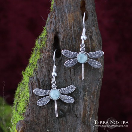 """Odonata Nila"" earrings"