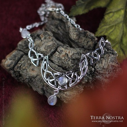 "2 in 1 Necklace/Tiara ""Under a Violet Moon"""