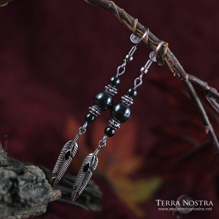 """Sacre Nokturna"" earrings"
