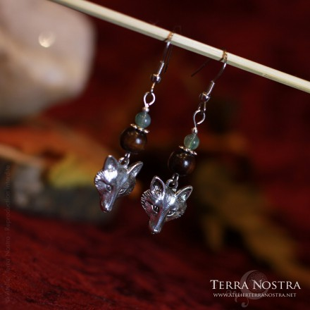 """Wolf spirit"" earrings"