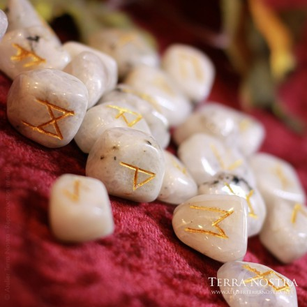 Clear quartz runes set